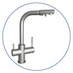 """Четырехпозиционный комбинированный кухонный смеситель для холодной, горячей и фильтр. воды двух типов AquaFilter """"FXFCH13-4-M_K"""" матовый"""