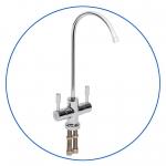 """Двойной краник для питьевой воды с керамическим клапаном для систем ОО с двумя типами очищенной воды AquaFilter """"FXFCH16-C"""" хром"""