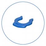 """Клипса-зажим для фитингов быстрого соединения 1/4"""" AquaFilter """"A4LC-BL"""" синяя"""