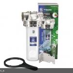 """Натрубный корпус фильтра +ключ AquaFilter 10"""" """"F10SS2PC-V-R"""" 8,6bar до 93°C"""