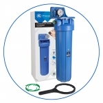 "Натрубный усиленный корпус фильтра +ключ +кронштейн +манометр AquaFilter 20""BB ""FH20B1-B-WB"" 6bar"