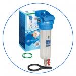 """Натрубный корпус фильтра с промывкой +кронштейн +ключ AquaFilter 10"""" """"FHPR34-3V-R"""" 6bar"""
