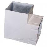 Колено металл квадрат 90х90мм-90° белый