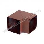 Колено металл квадрат 90х90мм-90° коричневый
