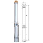 """Насос глубинный Aquatica """"3SDm 1,8/38 (777105)"""" 1,1 кВт 163м +кабель 2,2м"""