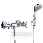 """Смеситель для душ кабины Zegor """"DTZ5 A827"""" керамика, хром"""