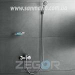 """Смеситель для душ кабины Zegor """"LOB5 A128"""" хром"""