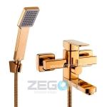 """Смеситель для ванной Zegor """"LEB3-A123 G"""" золото"""