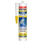 Санитарный силикон Soudal 300мл бел, прозр, серый