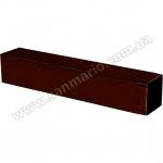 Труба металл квадрат 90х90мм коричневый
