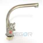 """Смеситель для кухни Zegor """"DTZ4 D827"""" керамика, бронза"""