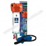 """Натрубный корпус фильтра с промывкой +кронштейн +ключ AquaFilter 10"""" """"F10NN2PC-V_R"""" 8,6bar до 93°C"""