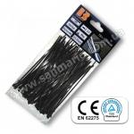 Хомут одноразовый  Bradas UV Black пластиковый 3,6-300